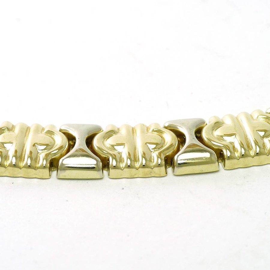 14 krt. bicolor gouden armband in Bulgari stijl