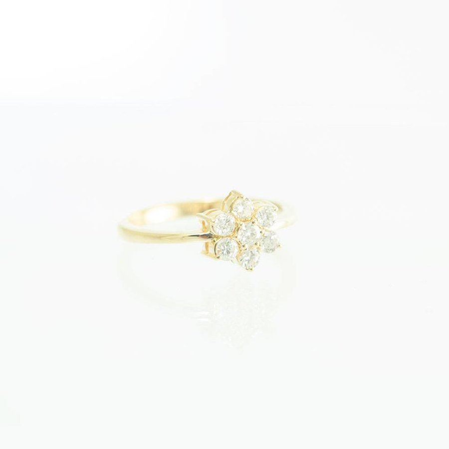 18 krt. geel gouden entourage ring