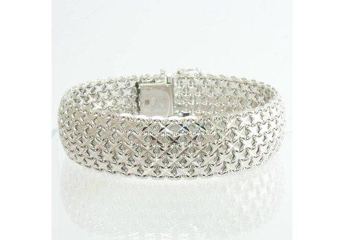 18 krt. wit gouden armband