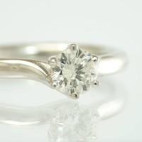 18 krt. wit gouden solitair ring