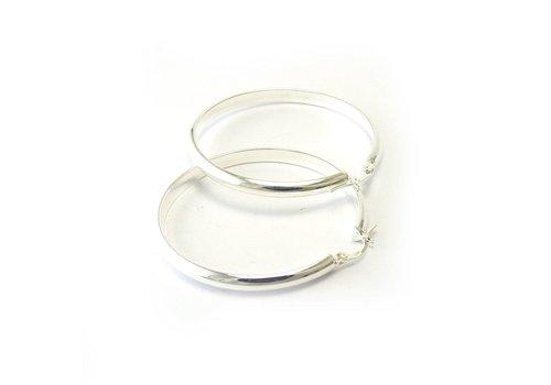 Zilveren creolen Ov 4-47. 47mm