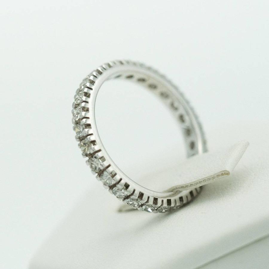 18 krt. wit gouden alliance ring