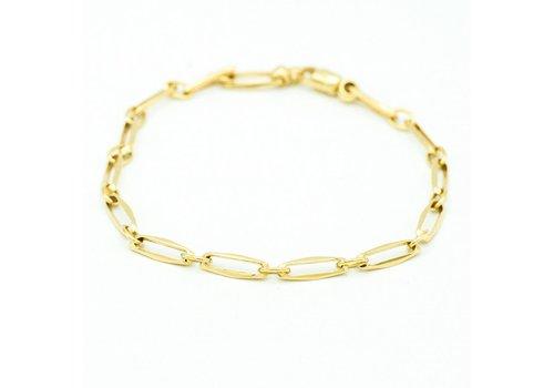 14 krt. geel gouden closed armband