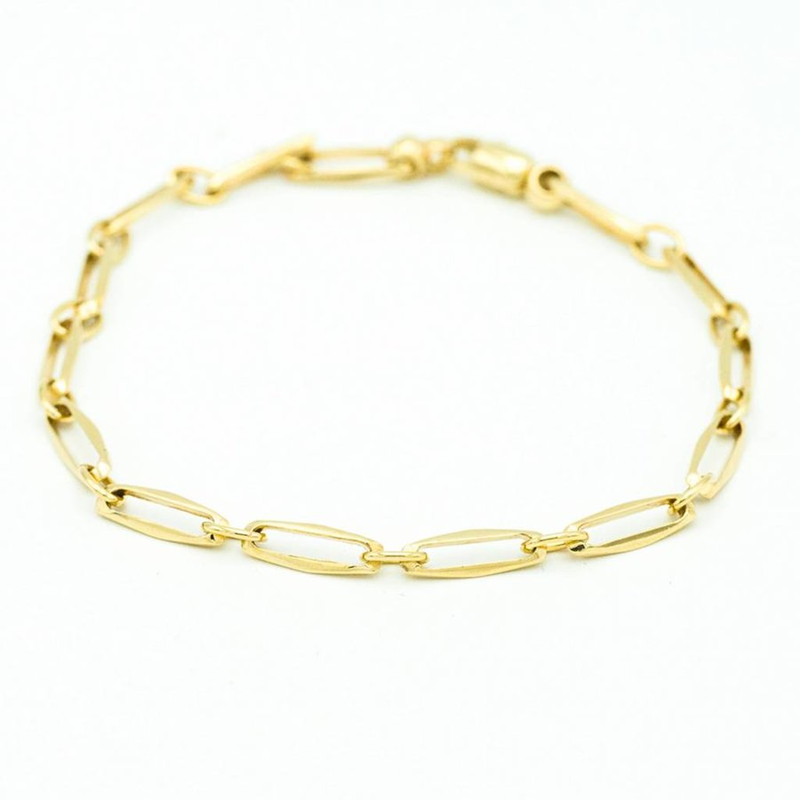 14 krt. geel gouden closed armband