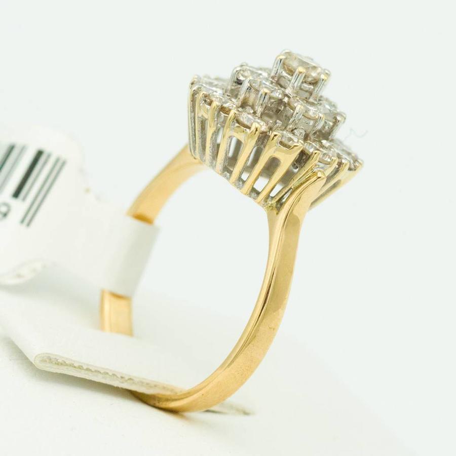 14 krt. geel gouden entourage ring