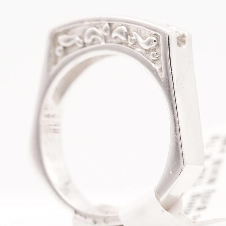 18 krt. wit gouden ring met 6 prinses geslepen diamanten