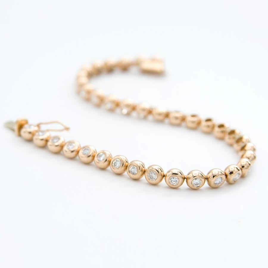 18 krt geel gouden armband met briljanten