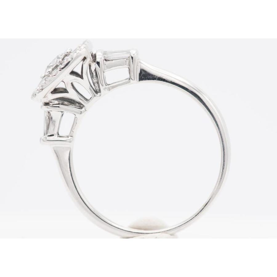 18k witgouden ring met Diamant