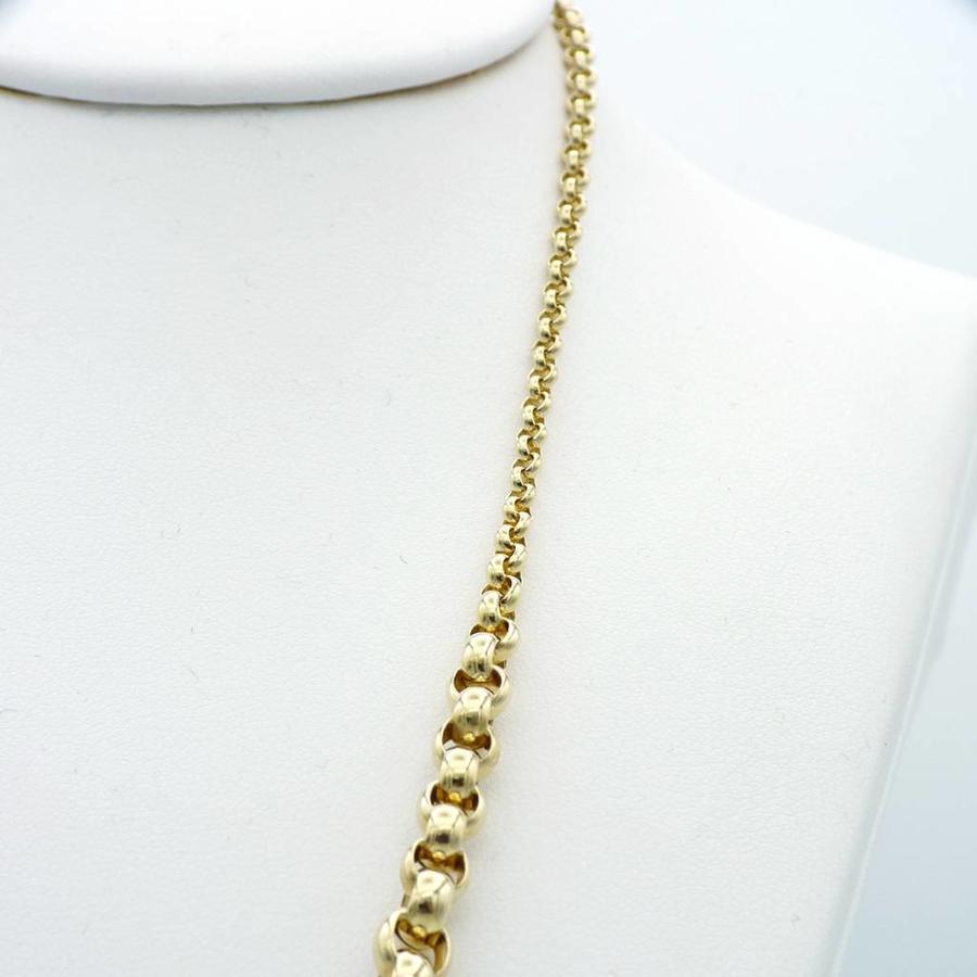 14 krt.  Jasseron collier 19.7g NOR. 45cm