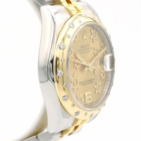 Oyster Perpetual Datejust Gold flower dial