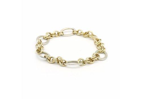 14 krt. bicolor gouden armband
