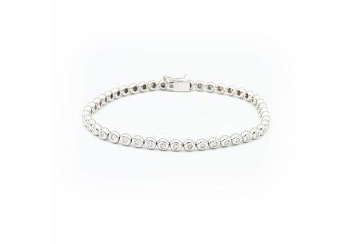 18 krt. wit gouden armband met briljanten