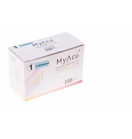 MyAcu MyAcu Akupunktur-Nadeln mit Kunststoffgriff - Guidetube 0,20x40 mm