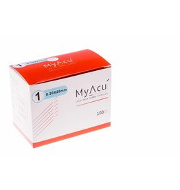 MyAcu Needles Stainless Steel Wired Handles with Guidetube 0,20x25 mm