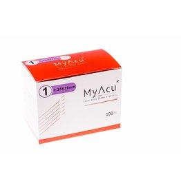 MyAcu Aiguilles avec manche en acier inoxydable Guidetube 0,25x25 mm
