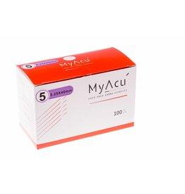 MyAcu Aiguilles avec manche en acier inoxydable Guidetube 0,25x40 mm