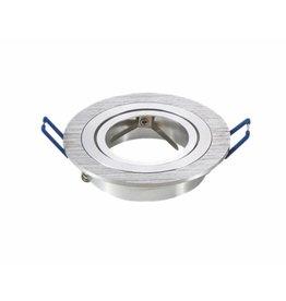 LED spot armatuur aluminium rond kantelbaar zaagmaat Ø75mm buitenmaat Ø91mm