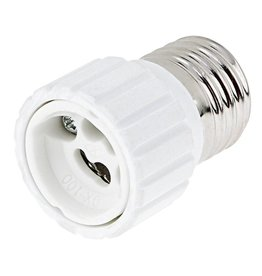 Verloopfitting E27 naar GU10 wit max. 60W