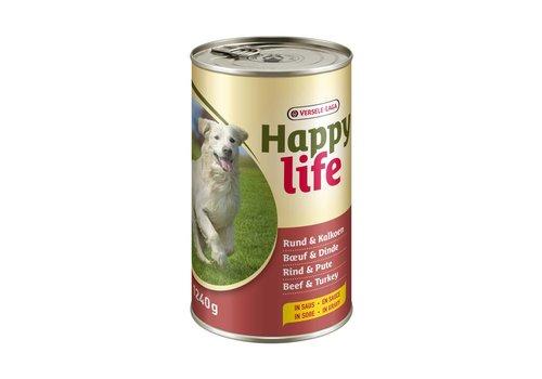 Versele-Laga Happy Life | Rund & kalkoen - blik | 1240 g | rund | kalkoen