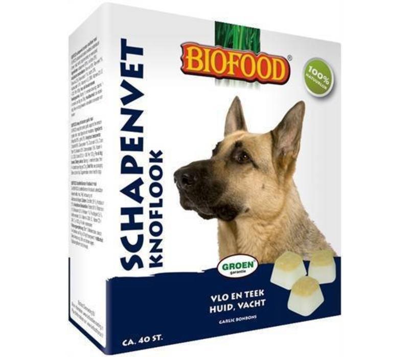 Biofood | Schapenvet maxi knoflook | knoflook | schapenvet | 40 stuks