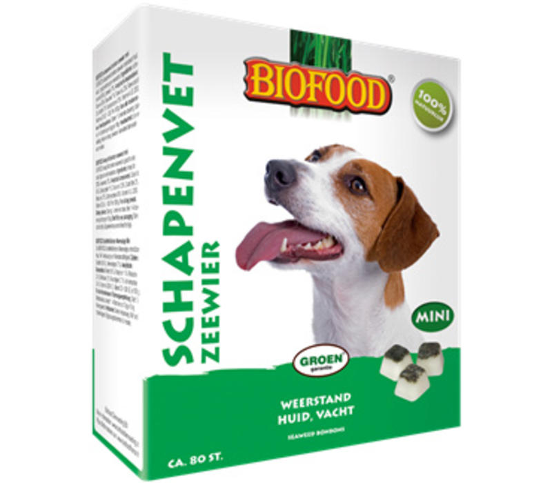 Biofood   Schapenvet mini zeewier   zeewier   vet   80 stuks