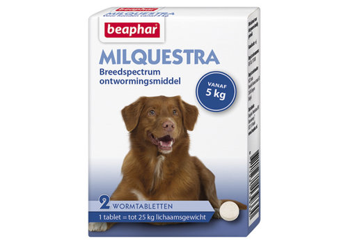 Beaphar Beaphar   Milquestra hond   2 tab   5 tot 50 kg