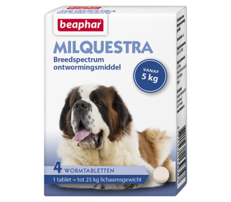 Beaphar   Milquestra hond   4 tab   5 tot 75 kg