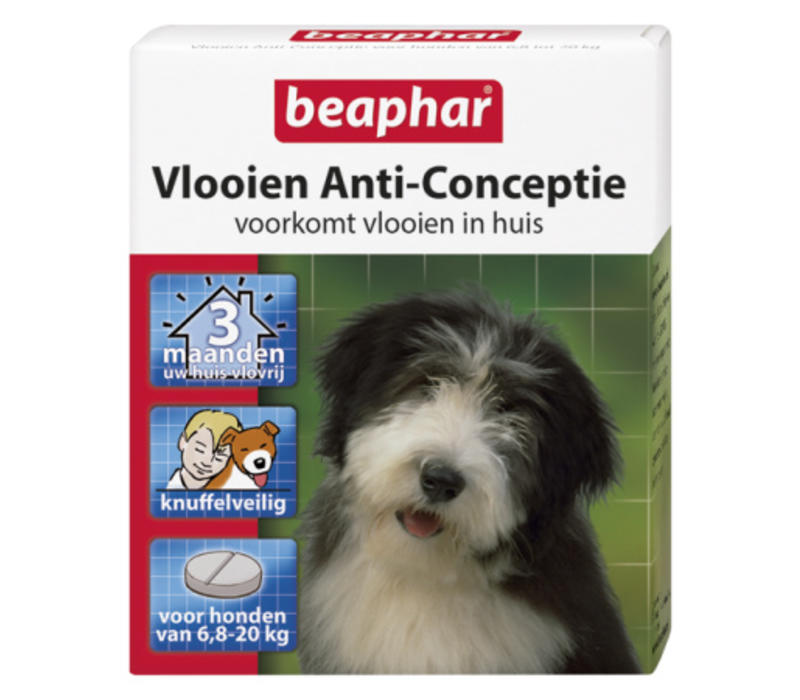 Beaphar   Vlooien anti conceptie hond m   3 stuks   Medium