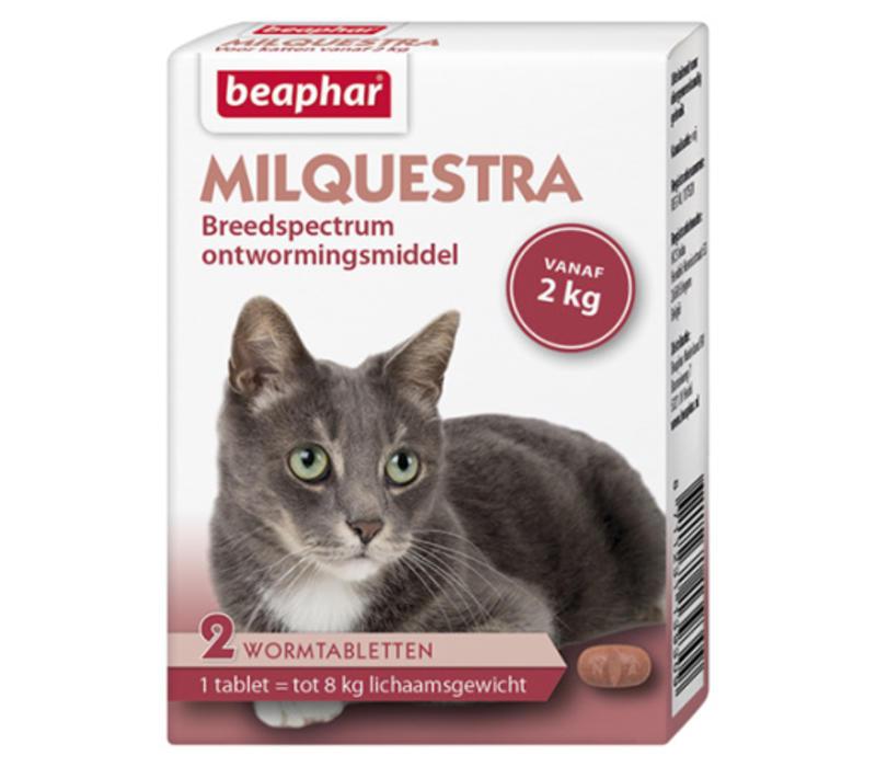 Beaphar   Milquestra kat   2 tab   tot 8 kg