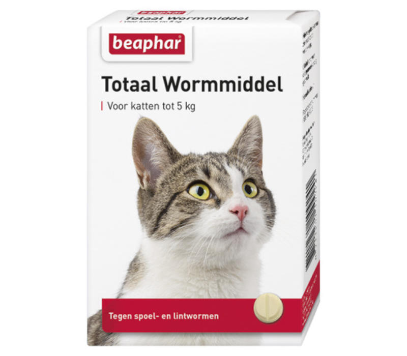 Beaphar   Wormmiddel totaal kat   10 stuks