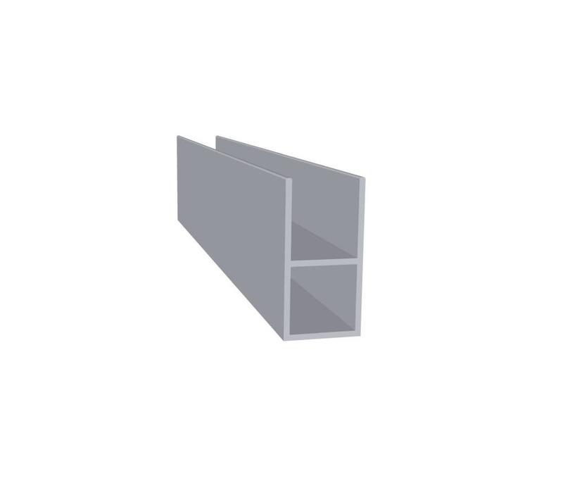 Aluminium Koker 20 x 20 x 1,5 mm | 1 flens 16 mm