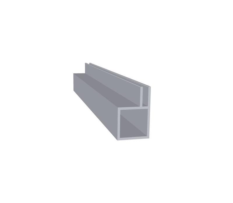 Aluminium Koker 20 x 20 x 1,5 mm | 1 flens 3 mm