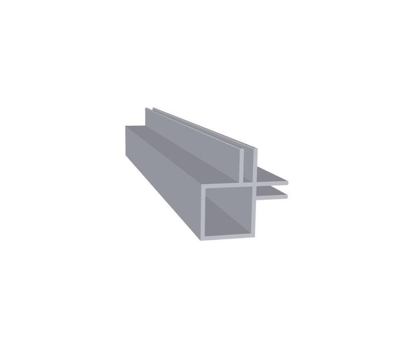 Aluminium Koker 20 x 20 x 1,5 mm   2 flens (binnen hoek) 3 mm