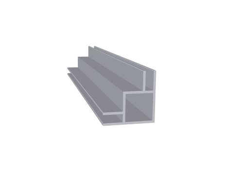 Aluminium Koker 20 x 20 x 1,5 mm | 2 flens (buitenhoek) 3 mm