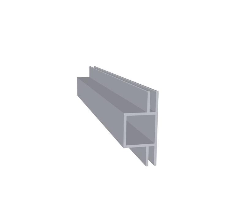 Aluminium Koker 20 x 20 x 1,5 mm | 2 flens (vlak) 3 mm