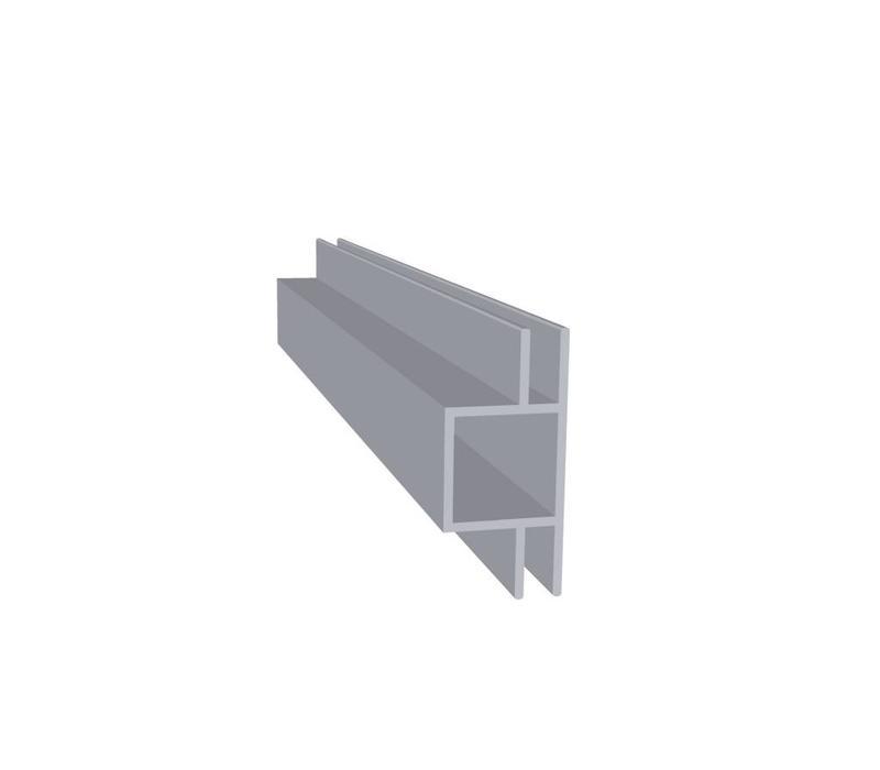 Aluminium Koker 20 x 20 x 1,5 mm | 2 flens (vlak) 4 mm