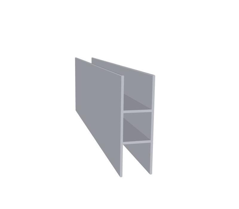 Aluminium Koker 20 x 20 x 1,5 mm | 2 flens 16 mm