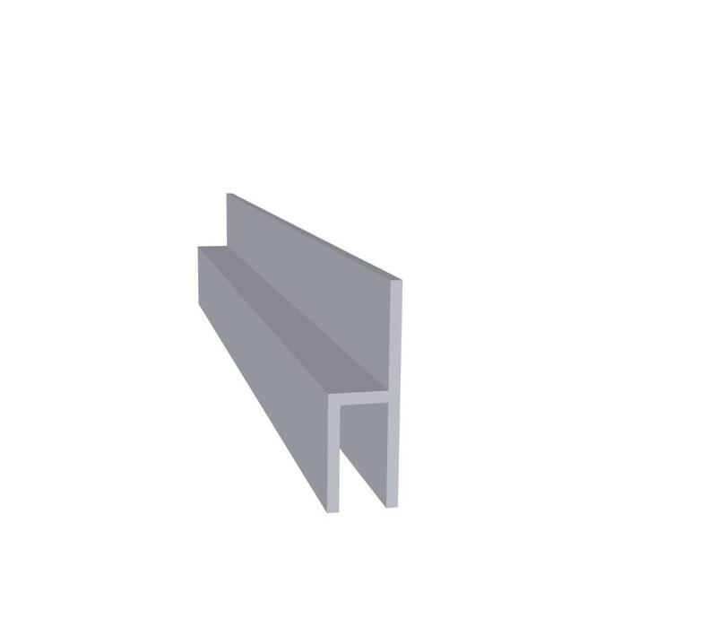 Aluminium profiel 26 x 15 x 8 mm | (stoeltjes profiel)