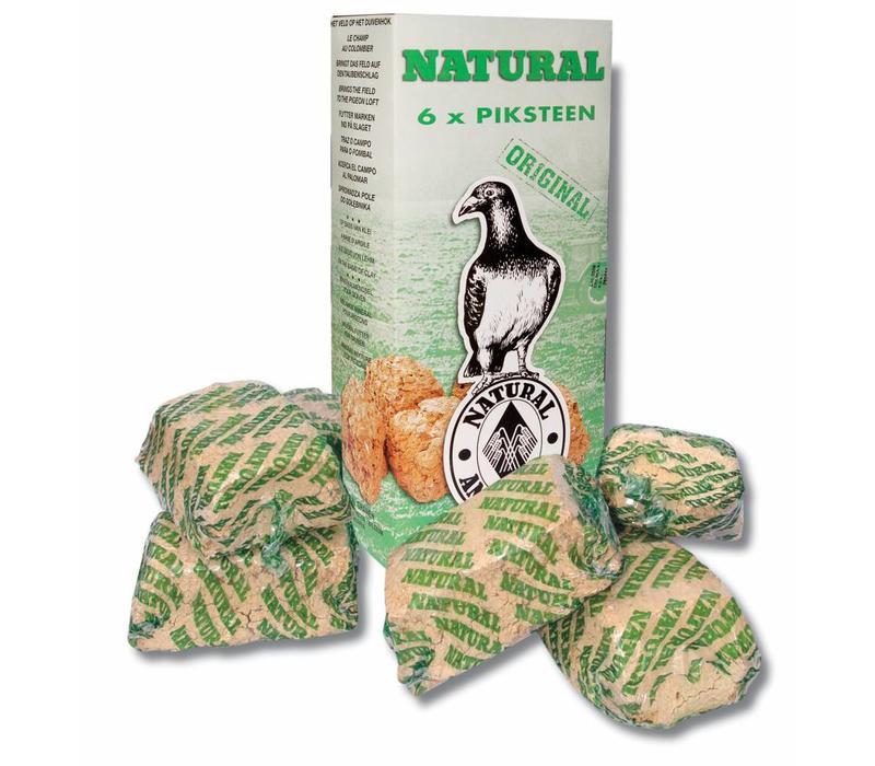Natural piksteen 6-pack