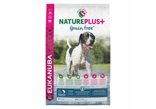 Eukanuba Nature Plus | GrainFree* | Salmon | All Breeds | 2.3KG | Adult 1-7 Years