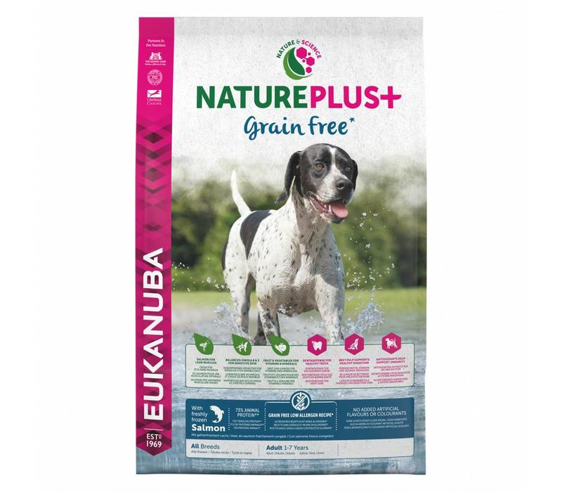 Nature Plus | GrainFree* | Salmon | All Breeds | 2.3KG | Adult 1-7 Years