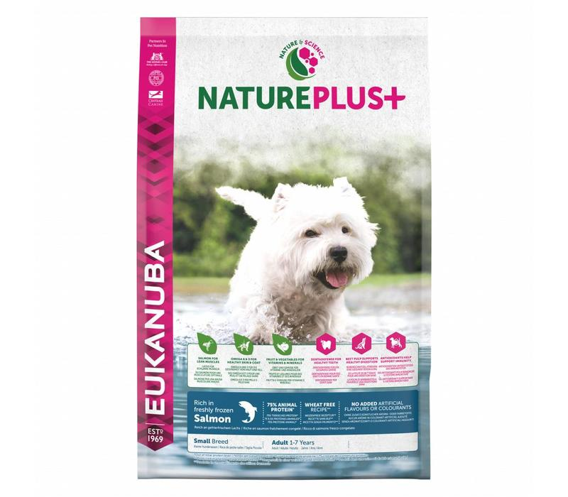 Nature Plus   Salmon  Small Breed   2.3KG   Adult 1-7 Years