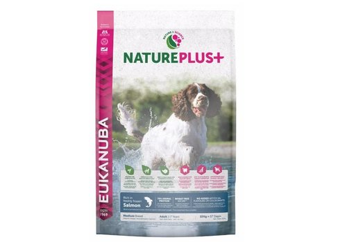 Eukanuba Nature Plus | Salmon |Medium Breed | 2.3KG | Adult 1-7 Years