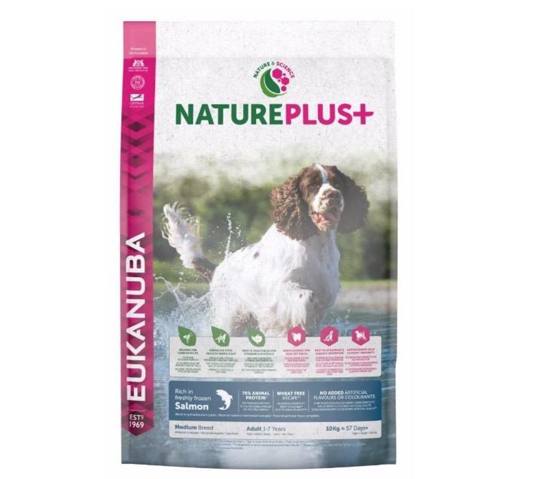 Nature Plus | Salmon |Medium Breed | 2.3KG | Adult 1-7 Years