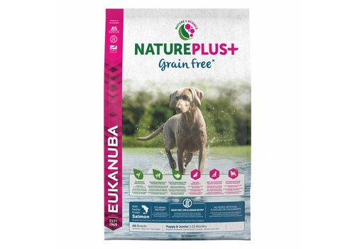 Eukanuba Nature Plus | GrainFree* | Salmon | All Breeds | 2.3KG | Puppy&Junior 1-12 Maanden