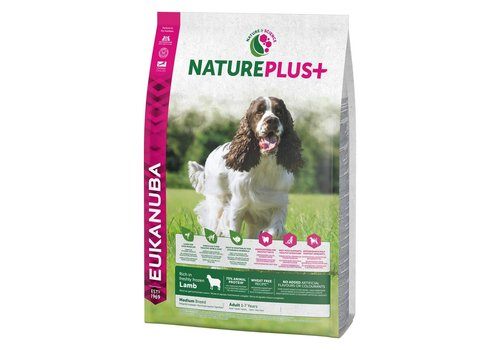 Eukanuba Nature Plus | Lamb |Medium Breed | 2.3KG | Adult 1-7 Years