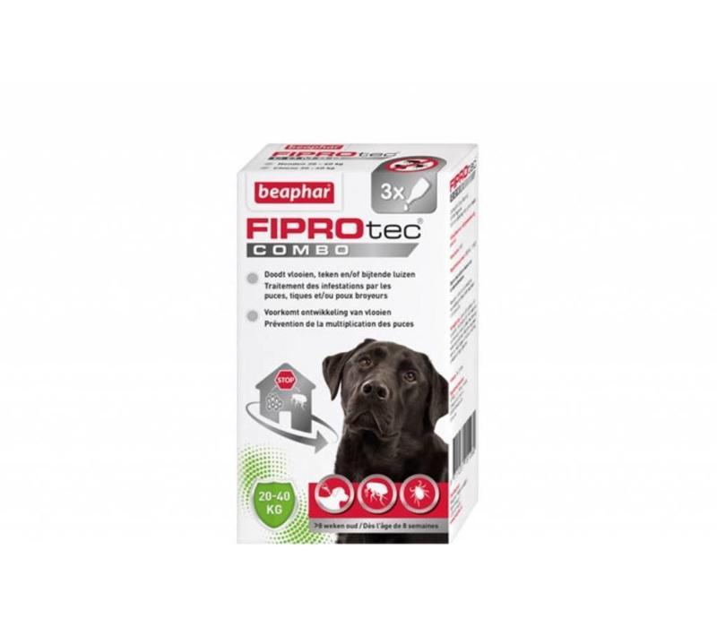 Beaphar | Fiprotec combo Dog 20-40 KG | 3 pip | 20-40 KG