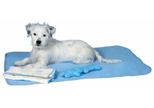 Puppyset met deken, speelgoed en handdoek lichtblauw