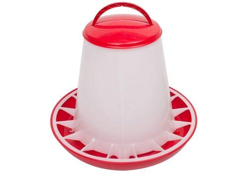 Olba Voerhopper MET deksel inhoud 3 kg (rood/wit)