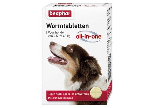 Beaphar Beaphar   Wormtablet all in one hond   4 tab   2,5-40 kg
